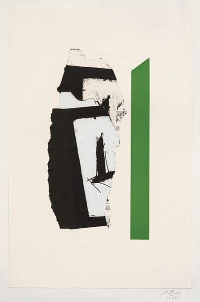 Robert Motherwell, 'In White with Green Stripe (E. & B. 378)', 1987