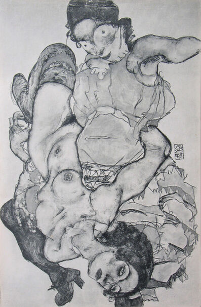 Egon Schiele, 'Two Girls, Lying Entwined (Layni Portfolio)', 1917