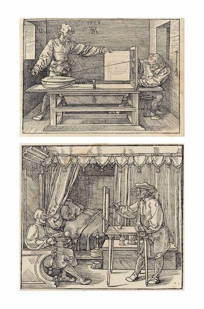 Albrecht Dürer, 'Unterweisung der Messung (B. 146, 147; M., Holl. 268, 269 & XXVI; S.M.S. 274)', 1525