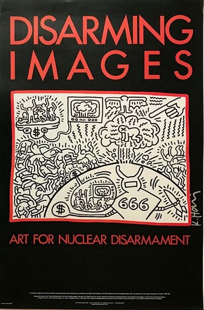 Keith Haring, 'Art for Nuclear Disarmament (Hand Signed)', 1985