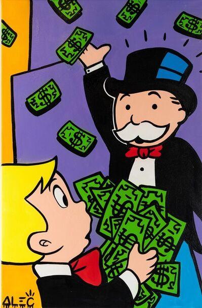 Alec Monopoly, 'Richie Giving $ to Monopoly ', 2019