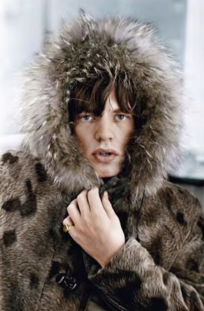 Terry O'Neill, 'Mick Parka, colourised', 1964