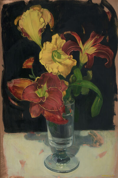 Benjamin J. Shamback, 'Day Lily Bouquet in Footed Glass', 2016