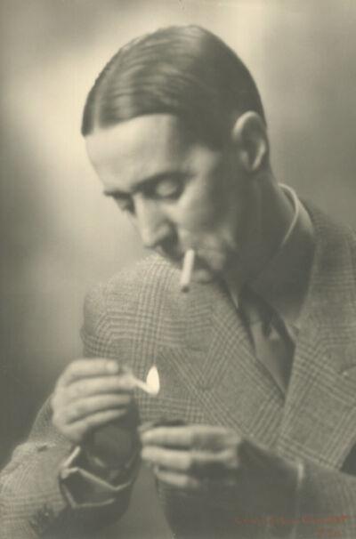 Laure Albin-Guillot, 'Writer Daniel Rops Lighting Cigarette', 1951/1951