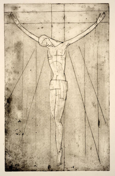 Arnold Auerbach, 'Christ on the Cross', 1920 (restrike 1999)