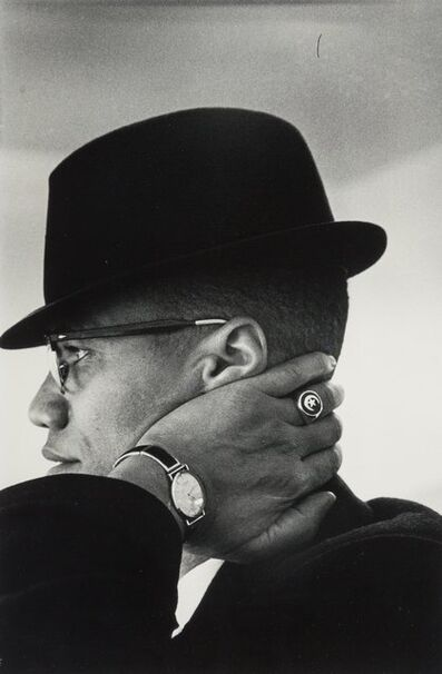 Eve Arnold, 'Malcom X, Chicago'