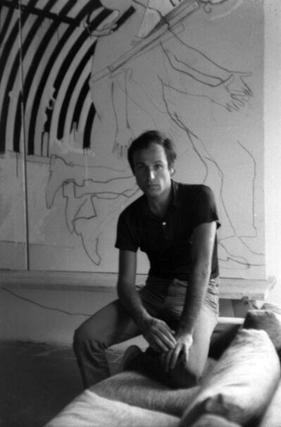 Mario Schifano, 'Mario Schifano in front of Winter through the Museum (L'inverno attraverso il museo)', 1965