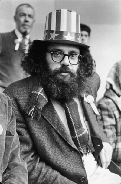 Fred W. McDarrah, 'Allen Ginsberg on Central Park Bandstand, 5th Avenue Peace Demonstration to Stop the War in Vietnam', March 26-1966