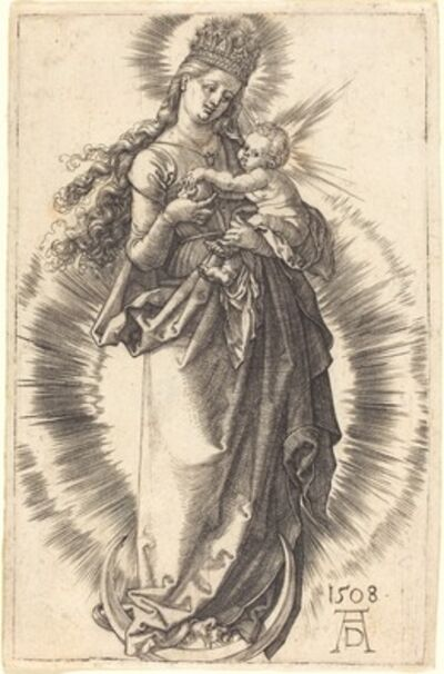 Albrecht Dürer, 'The Virgin and Child on a Crescent with a Starry Crown', 1508