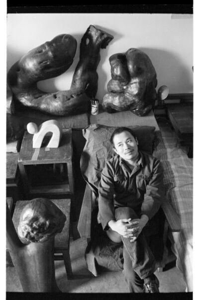 liu heung shing, 'Artist Wang Keping At Home Studio', 1978
