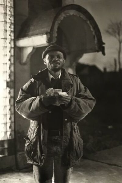 Ming Smith, 'Money Man, Pittsburgh, PA, (August Wilson Series)', 1992