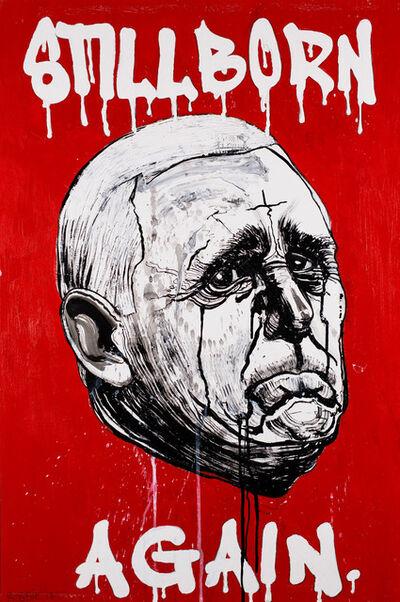 Robbie Conal, 'Mike Pence (Stillborn Again)', 2018
