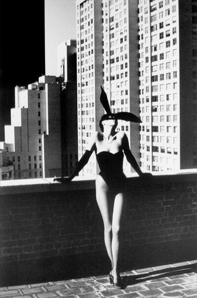 Helmut Newton, 'Elsa Peretti in Halston Bunny Costume, New York (1975)', ca. 1975