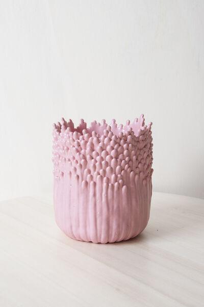Cécile Bichon, 'Cache-pot ascensionnel floral rose ', 2019