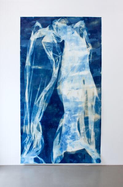 Ulla von Brandenburg, 'Vorhang Blau 4, Angel', 2019