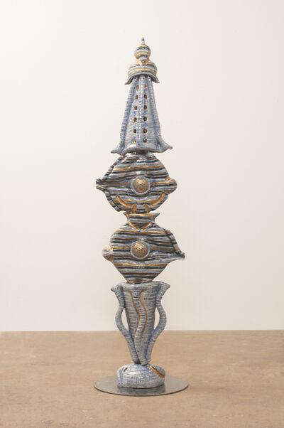 Diane Marimow, 'Blue/Gray Mollusk Totem'