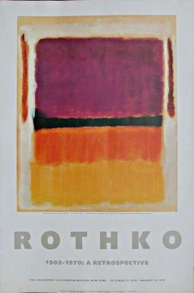 Mark Rothko, 'Poster for Guggenheim Museum: (Rothko 1903-1970: A Retrospective)', 1979