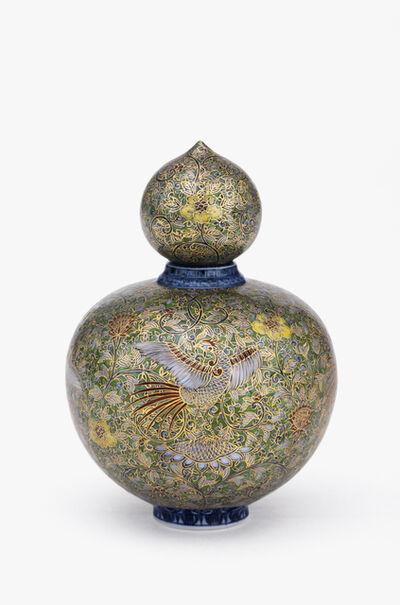 Yuki Hayama, 'Perfume Bottle: Green Phoenix and Arabesque with Gold glaze', 2019