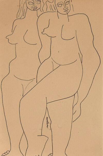 Louise Nevelson, 'Two Figures', 1932