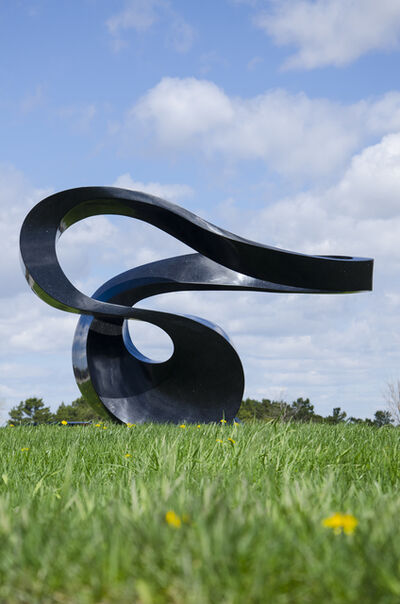 Jeremy Guy, 'Zephyr 8/50 - large scale, smooth, black, granite, outdoor, abstract sculpture', 2021