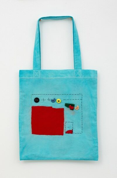 Noel McKenna, 'Turquoise tote with red shape', 2019