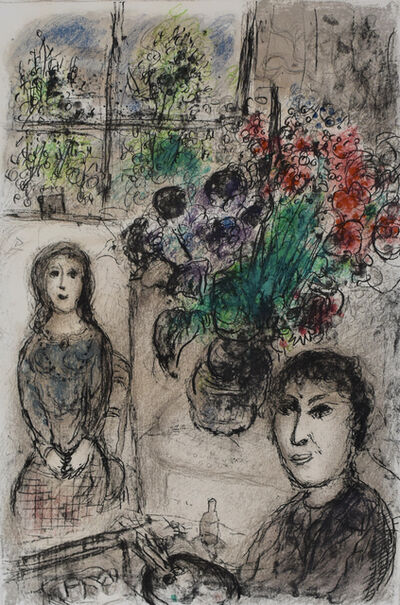 Marc Chagall, 'Easel with Flowers | Le Chevalet aux Fleurs', 1976