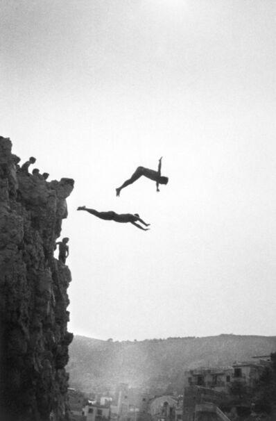 Ferdinando Scianna, 'ITALY. Sicily. Sant'Elia: Divers.', 1982