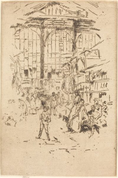 James Abbott McNeill Whistler, 'Clothes Exchange, No.II', ca. 1886/1888