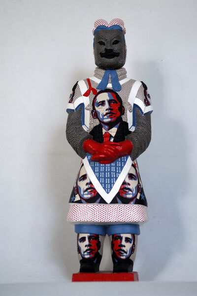 Fenghua Liu, 'Terracotta Warrior  - Obama ', 2013