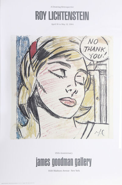 Roy Lichtenstein, 'No Thank You - James Goodman Gallery', 1984