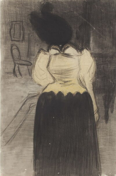 Joaquín Torres-García, 'Back facing woman', 1898