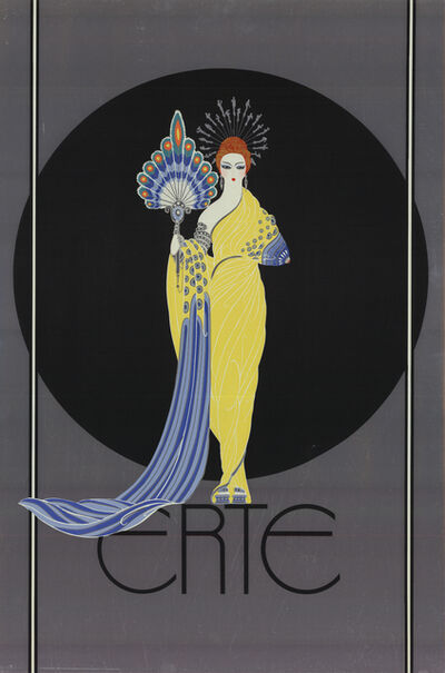 Erté (Romain de Tirtoff), 'Goddess in Yellow', 1982
