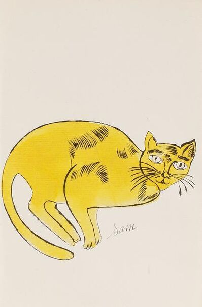 Andy Warhol, 'Sam (From 25 Cats named Sam and one blue Pussy, FS IV. 67A.)', ca. 1954
