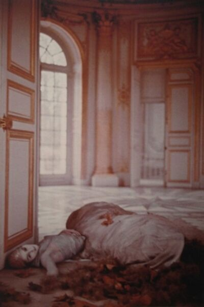 Deborah Turbeville, 'Autumn leaves inside the Pavillon Francais: Aurelia Weingarten, Unseen Versailles', 1980