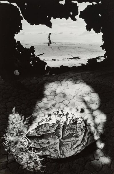 Jerry Uelsmann, 'Untitled (Figure and caked ground)', 1968
