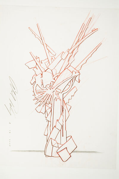 """Albert Paley, 'Proposal Drawing for """"Tribute""""', 2010"""