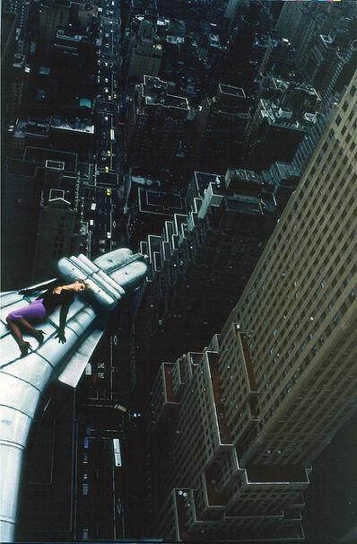 Manfred Thierry Mugler, 'Chrysler Building, New York, Etats-Unis, 1988 Claude Heidemeyer en « Vertigo » de Mugler.', 2019