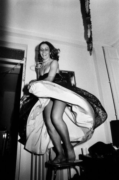 Letizia Battaglia, 'The journalist dances on chair. Palermo, Italy', 1978