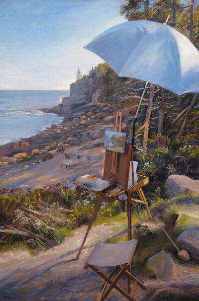 Joel Babb, 'Easel at Otter Cliffs, Mt. Desert Island, Maine', 2012