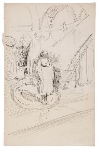 Walter Richard Sickert, 'Theatre Performer', ca. 1922