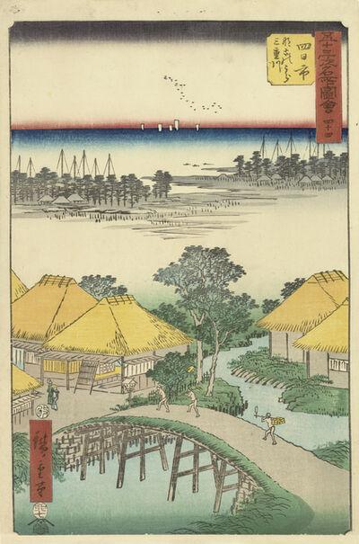 Utagawa Hiroshige (Andō Hiroshige), 'Yokkaichi', 1855
