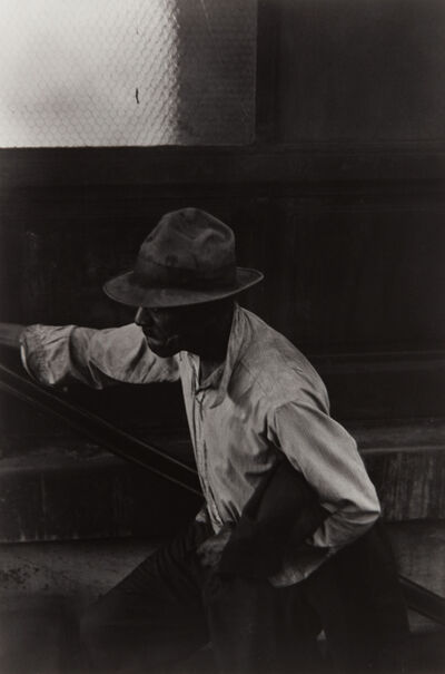 Roy DeCarava, 'Man Coming Up Subway Stairs', 1952