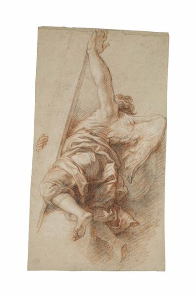 Charles de La Fosse, 'An angel, seen from behind, carrying the Cross'