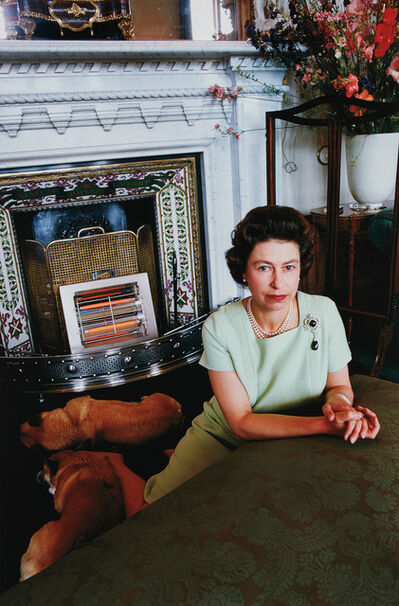 David Montgomery, 'Queen Elizabeth with Corgis', 1967