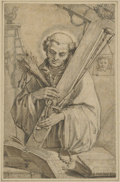 Abraham Bloemaert, 'Saint Bernard of Clairvaux with the Instruments of the Passion'