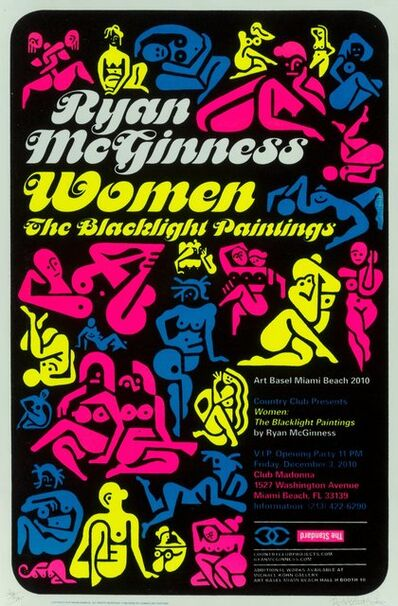 Ryan McGinness, 'Women: The Blacklight Paintings, exhibition poster', 2011