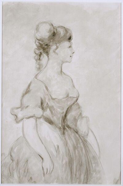 Constantin Guys, 'Lady in Crinoline'