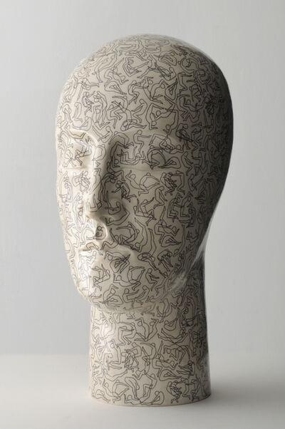 Glenys Barton, 'Tattoo Head I', 2009