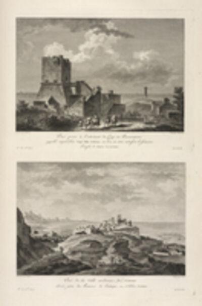 Jean Claude Richard de Saint-Non (author), 'Vu‰ de la Ville moderne de Cotrone ; Vu‰ du Cap Colonna', 1781