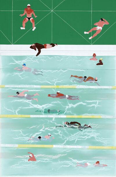 Yang-Tsung Fan, 'Swimming Pool Series-Green Tiles', 2019